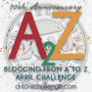 #AtoZChallenge 2019 Tenth Anniversary badge